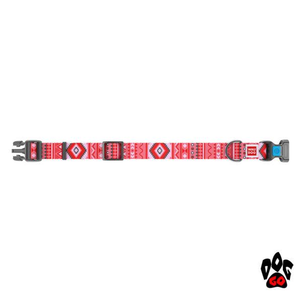 COLLAR Ошейник для маленьких собак WAUDOG Nylon с рисунком, XS (23-35 см) - Этно красный-2