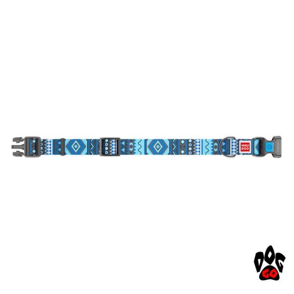 COLLAR Ошейник для маленьких собак WAUDOG Nylon с рисунком, XS (23-35 см) - Этно синий - 2