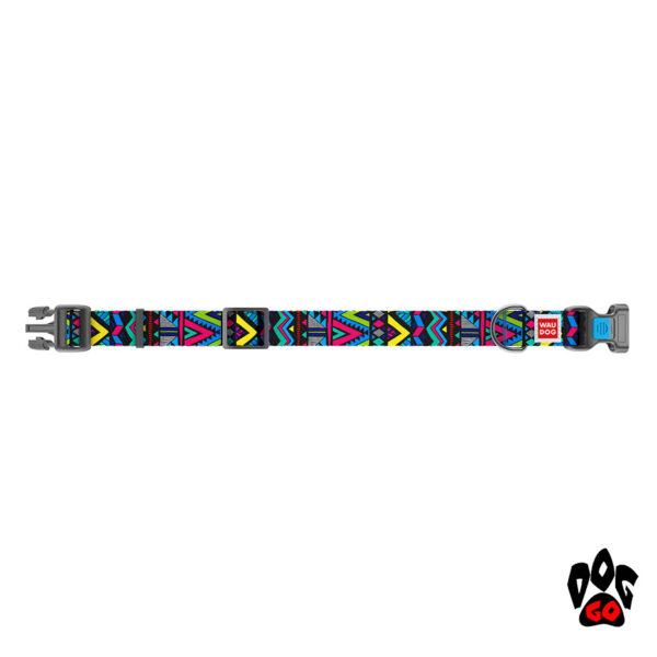 COLLAR Ошейник для маленьких собак WAUDOG Nylon с рисунком, XS (23-35 см) - Инди-2