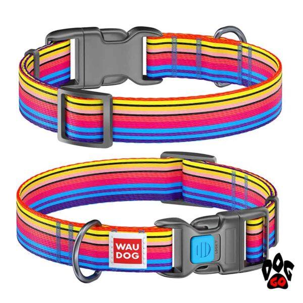 COLLAR Ошейник для маленьких собак WAUDOG Nylon с рисунком, XS (23-35 см) - Линия 1