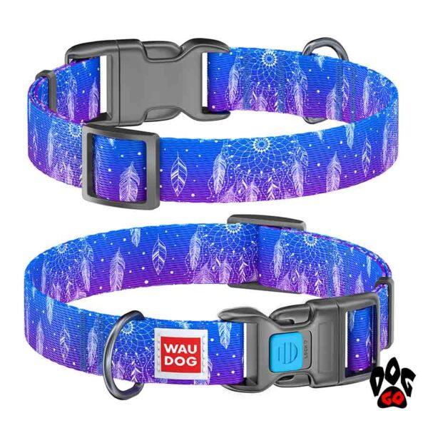 COLLAR Ошейник для маленьких собак WAUDOG Nylon с рисунком, XS (23-35 см) - Ловец снов