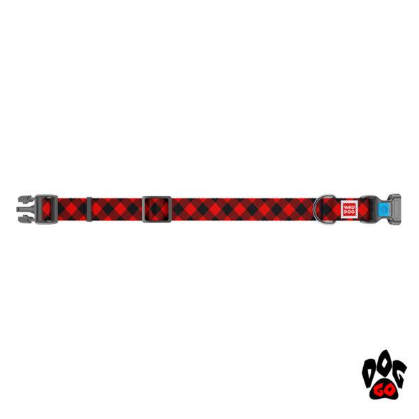 COLLAR Ошейник для маленьких собак WAUDOG Nylon с рисунком, XS (23-35 см) - Шотландка-2