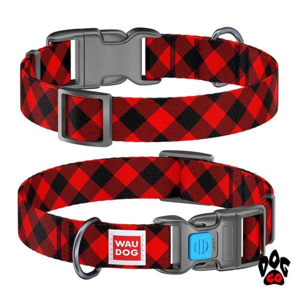 COLLAR Ошейник для маленьких собак WAUDOG Nylon с рисунком, XS (23-35 см) - Шотландка