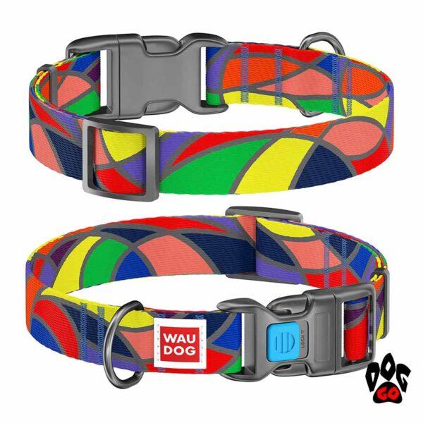 COLLAR Ошейник для маленьких собак WAUDOG Nylon с рисунком, XS (23-35 см) - Витраж