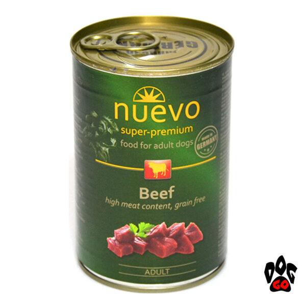Консервы для собак NUEVO ADULT с говядиной, 400 г