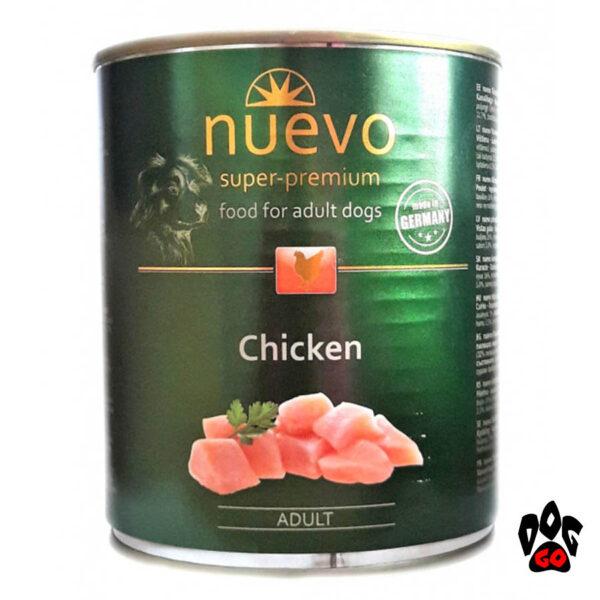 Консервы для собак NUEVO ADULT с курицей, 800 г