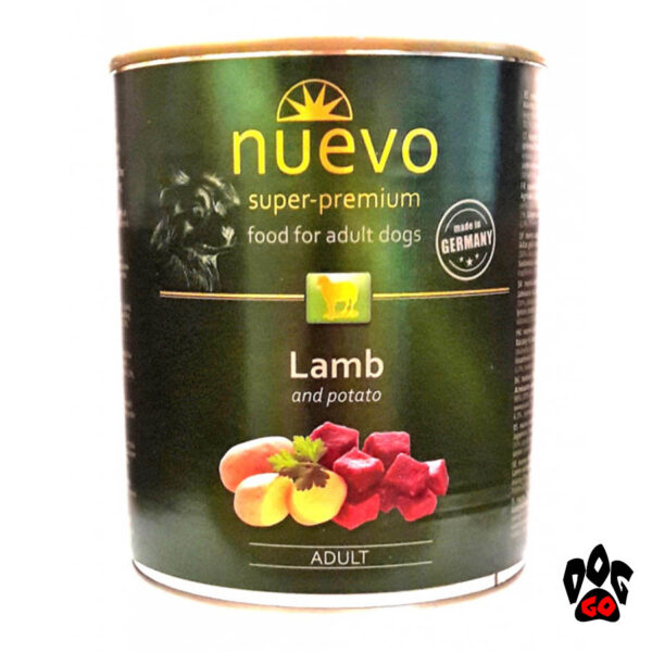 Консервы НУЭВО NUEVO ADULT для взрослых собак, с ягненком и картофелем, 800 г