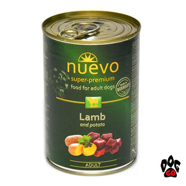 NUEVO консервы для собак ADULT с ягненком и картофелем, 400 г