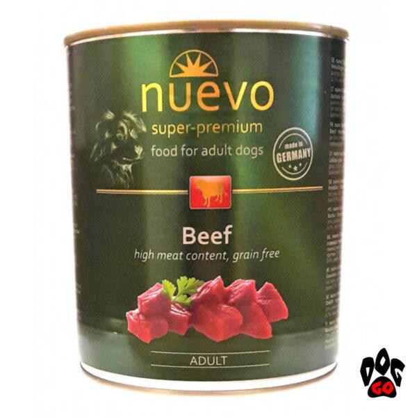 NUEVO корм для собак Консервы ADULT с говядиной, 800 г