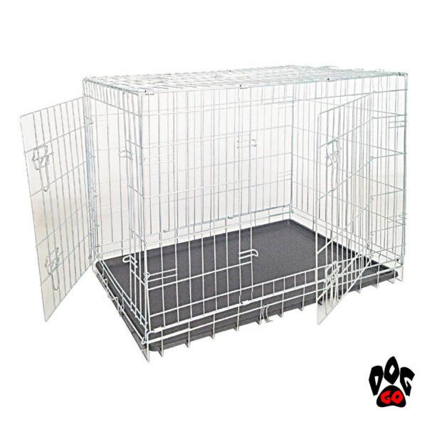 Клетка для перевозки собак CROCI, цинк, 2 двери, 93х62х69 см