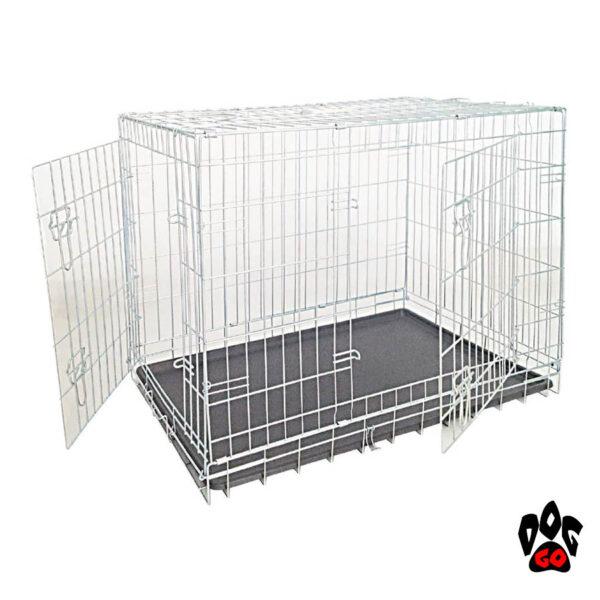 Клетка для собак CROCI, цинк, 2 двери, 64х48х54 см