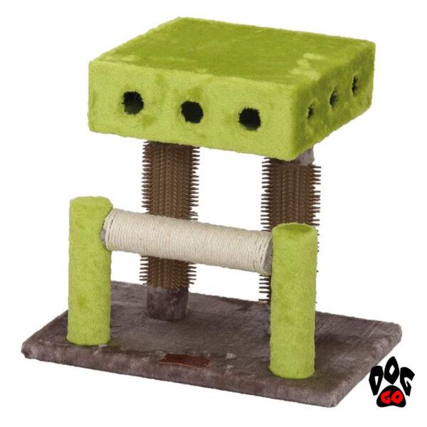 CROCI Когтеточка-массажер Interactive Double Fun, игровой городок, плюш+сезаль, 45x30x42 см
