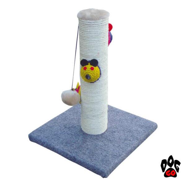CROCI Когтеточка столбик с игрушкой Batik, 27x27x35 см