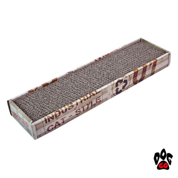 Когтеточка для котов CROCI Cardboard, гофрированный картон, 48x12.5x5 см