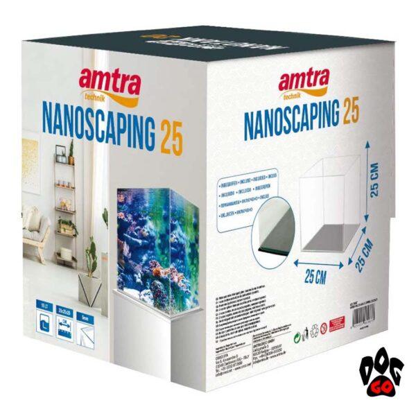 Аквариум AMTRA NANOSCAPING 25, 15л, 25x25x25см, 5мм, ультрапрозрачный