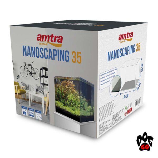 Аквариум AMTRA NANOSCAPING 35, 30л, 35x28x30см, 5мм, ультрапрозрачный