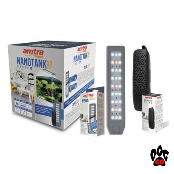 Аквариум AMTRA NANOTANK CUBO SYSTEM 60, панорамный, 60л, 38x38x43см, свет Vega 10Вт, фильтр Click250