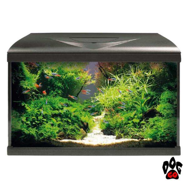 Аквариум AMTRA SYSTEM 60 LED BLACK на 60 литров, 60x32x42 (фильтр, помпа 480л.ч, нагр-ль 100Вт, LED 3 цвета)