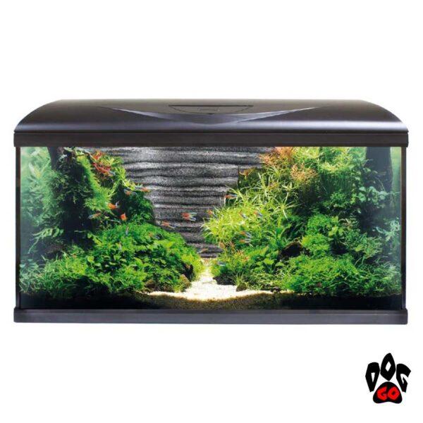 Аквариум AMTRA SYSTEM 80 LED BLACK на 85 литров (фильтр, помпа 520л.ч, нагр-ль 100Вт, LED, фон камни)