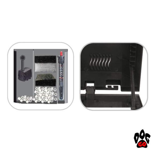 Аквариум WAVE BASIC 80 LED на 95 литров (фильтр 520л/ч, нагреватель 100Вт, LED 8Вт)