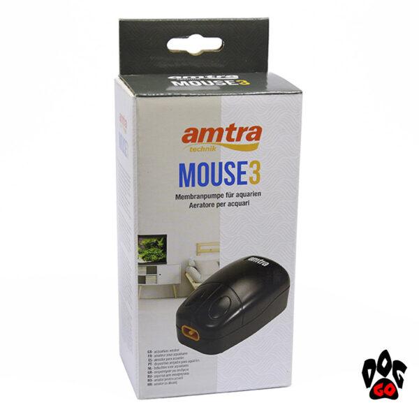 AMTRA Аквариумный компрессор до 200 литров Wave MOUSE5, 240 л.час, 4Вт-3