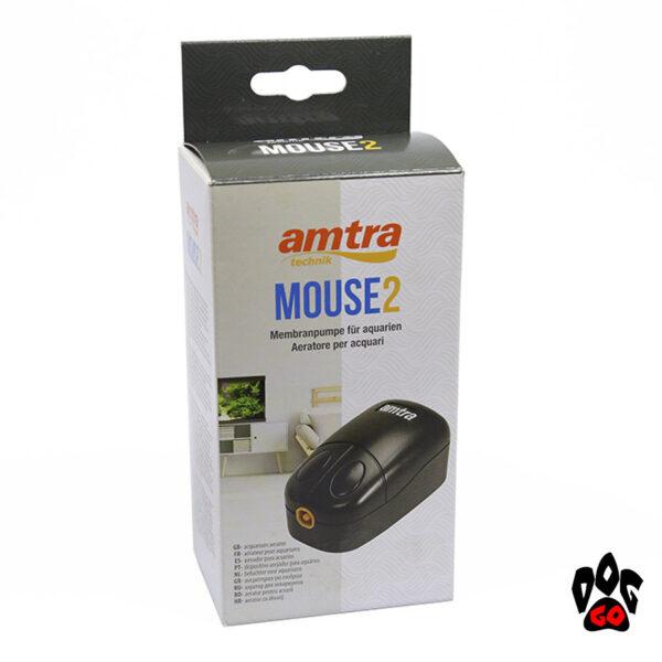 AMTRA Компрессор для маленького аквариума до 85 литров MOUSE2, 108 л.час, 2.3Вт-4