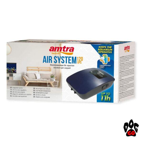 Компрессор для аквариума 100 литров Amtra AIR SYSTEM UPS 120 SET, до 11ч-2