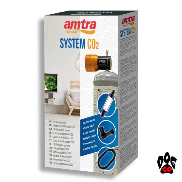 CO2 для аквариума AMTRA CO2 SYSTEM, SET (балон 500гр, редуктор, счетчик пузыр., диффузор.)