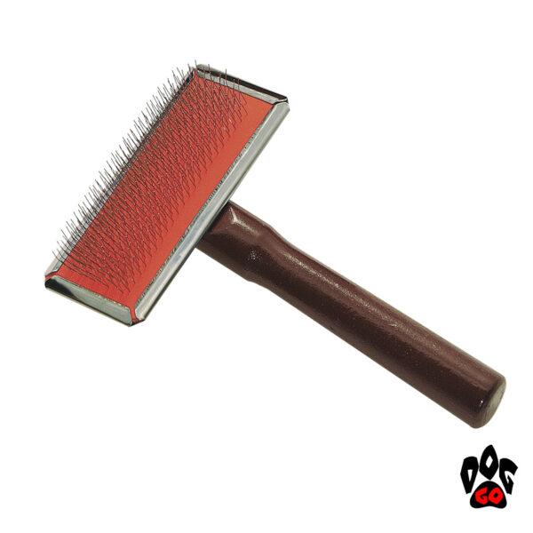 Пуходерка для шпица и маленьких собак с длинной шерстью Iv San Bernard SLICKER, маленькая-1