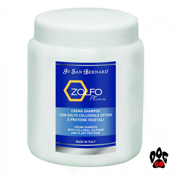 Шампунь для собак против перхоти Iv San Bernard Mineral Plus Zolfo с коллоидной серой (кот, собака), 1000мл