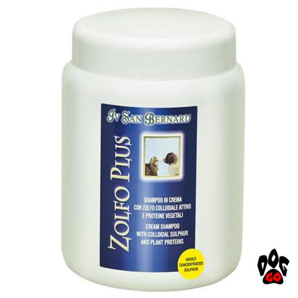 Шампунь для собак против перхоти Iv San Bernard Mineral Plus Zolfo с коллоидной серой (кот, собака) 250мл-1л-2