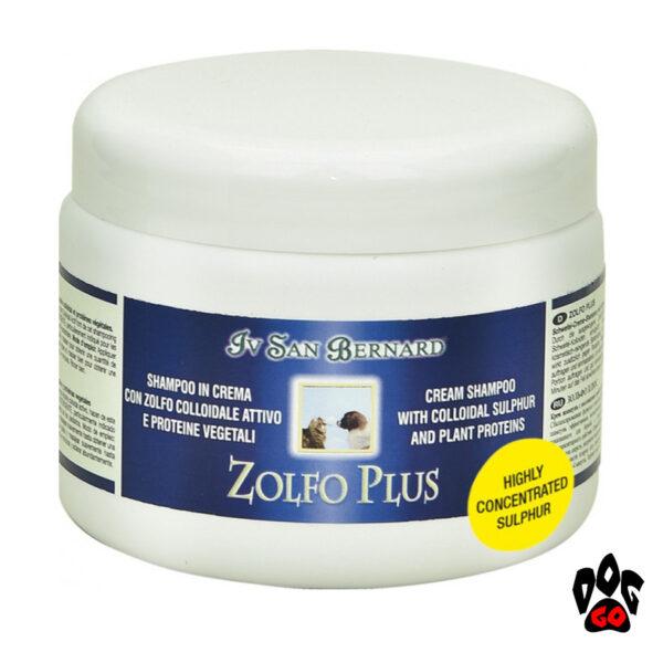 Шампунь для собак против перхоти Iv San Bernard Mineral Plus Zolfo с коллоидной серой (кот, собака) 250мл-1л-1