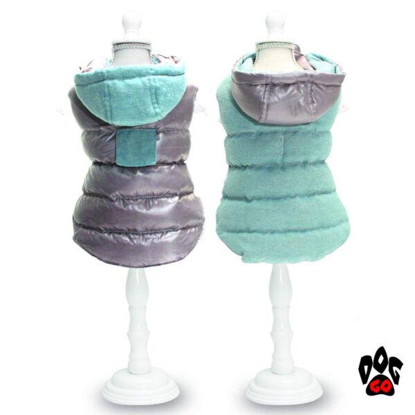 CROCI Куртки для собак двухсторонние TWOSIDES GREY, RED-1