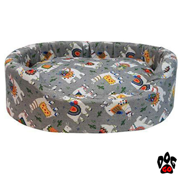CROCI Мягкое место для собак PROB-LLAMA, овальный, серый-1