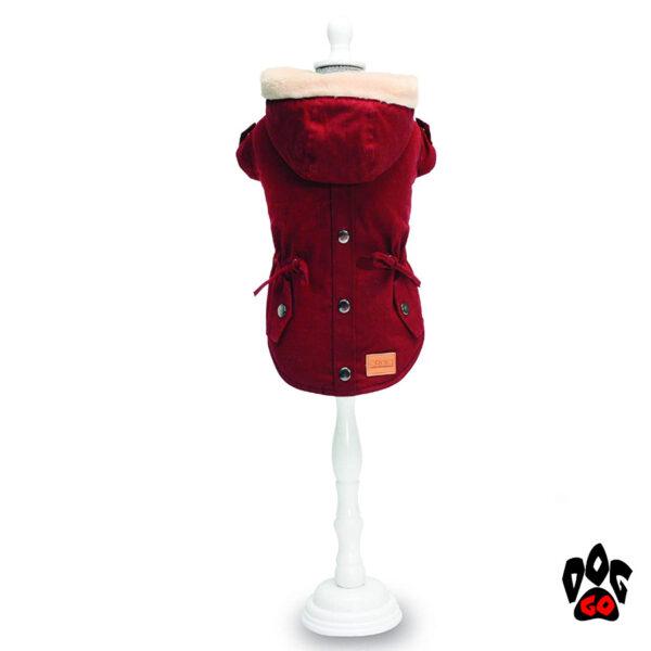 Красная куртка для собак CROCI PARKA BORDEAUX-1