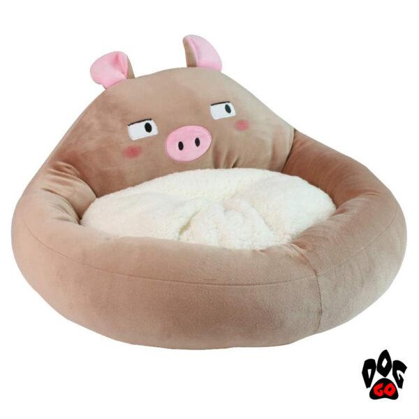 Лежак для собак CROCI Fluffy Doubt Pig, 40х25см-1