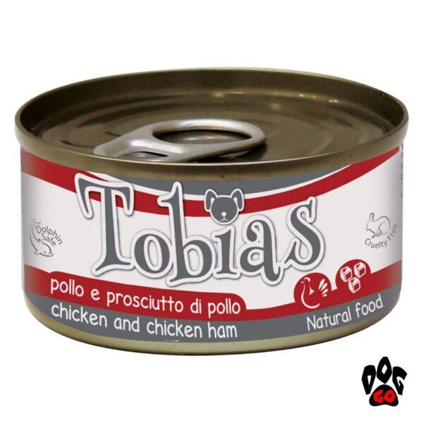 TOBIAS Конcервы для собак CROCI, курица+куриная ветчина, 170г