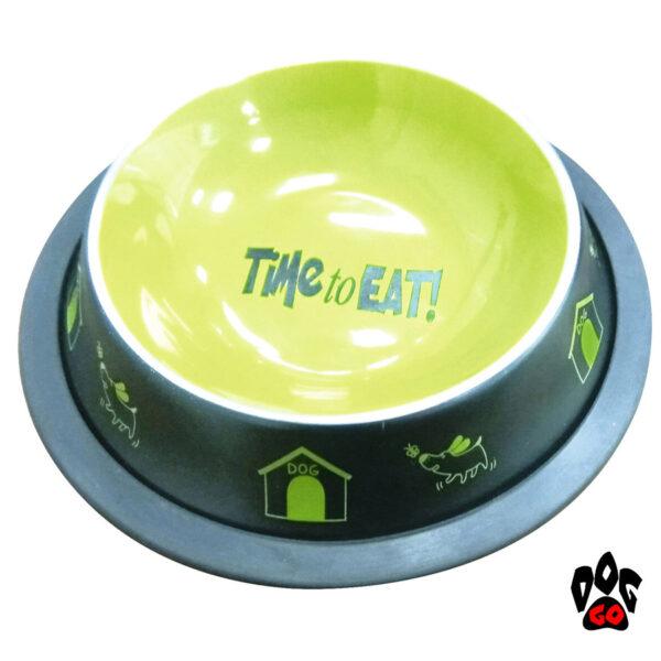 CROCI Миска для собак непроливайка Fancy, металлическая глазурь, резиновый кант-1