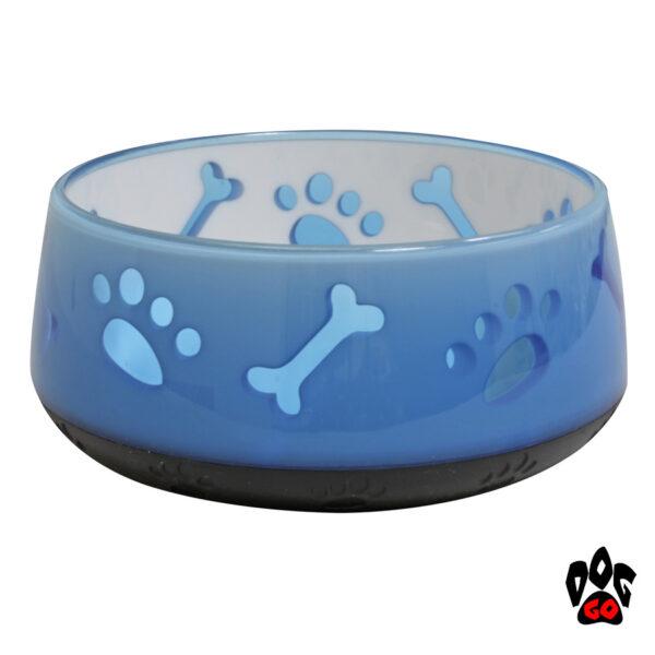 CROCI Пластиковые миски для собак и кошек Doggy, непроливайки, прорезиненное дно, полупрозрачные-1