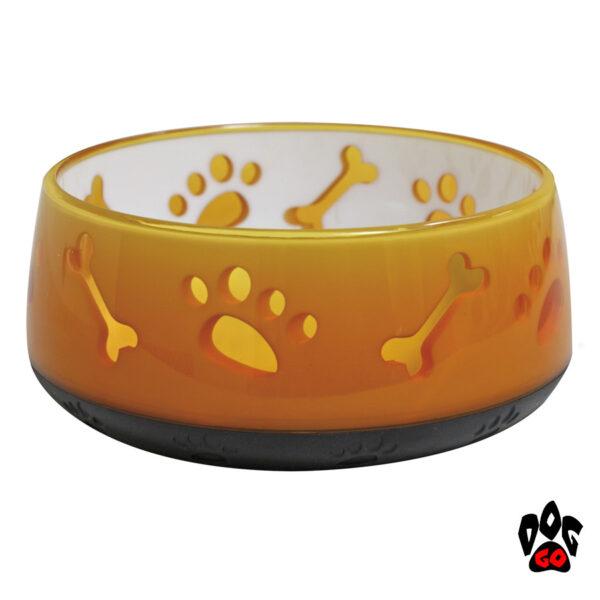 CROCI Пластиковые миски для собак и кошек Doggy, непроливайки, прорезиненное дно, полупрозрачные-2