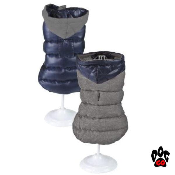 Двухсторонняя жилетка для собак CROCI BIUE, GREY-1