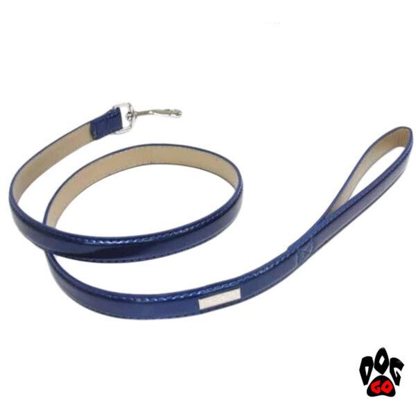 Короткий поводок для собак CROCI GUINZAGLIO LUXURY, перламутр, кожзам, 1.2м-1