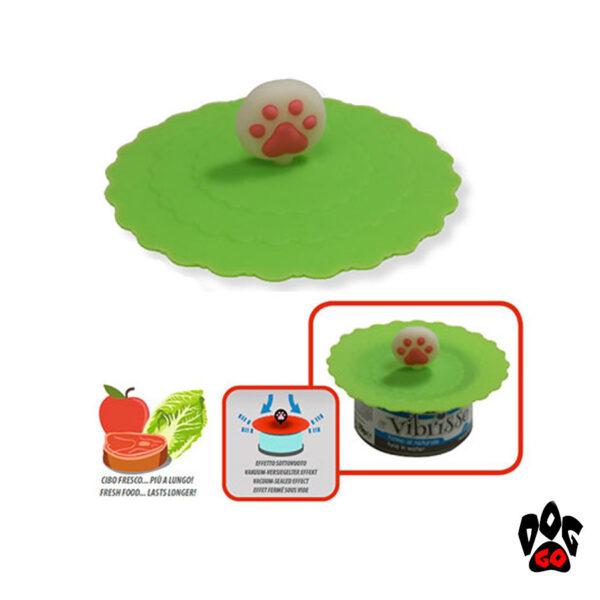Крышки на консервы для собак и кошек CROCI силикон, диаметр 10см-1