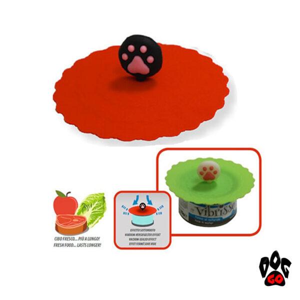 Крышки на консервы для собак и кошек CROCI силикон, диаметр 10см-2