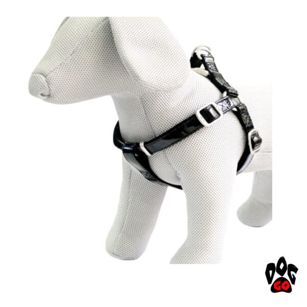 Лакированная шлейка для собак CROCI LEATHERETTE, кожзам+нейлон-5