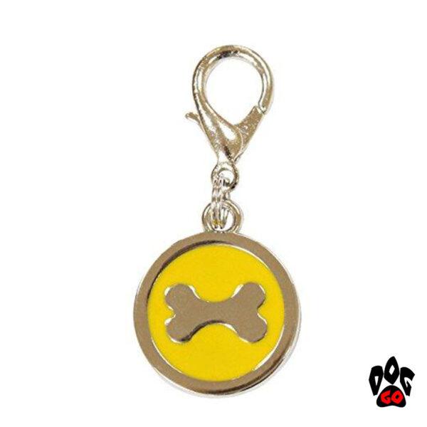 Медальоны для собак на ошейник CROCI Косточка, металл, 25мм-1