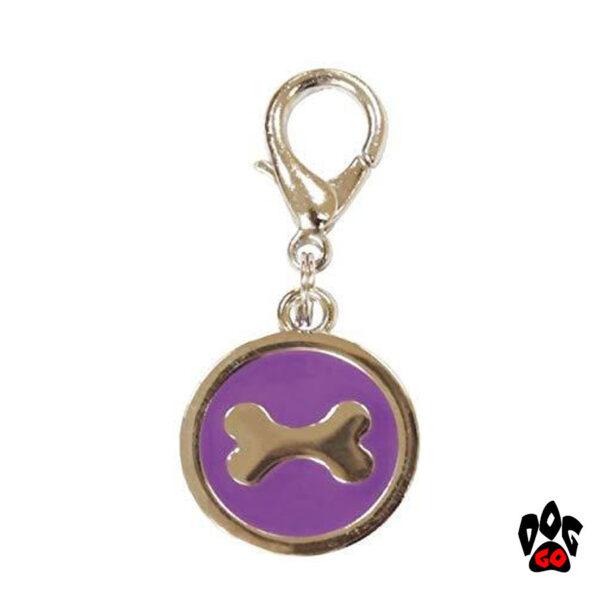 Медальоны для собак на ошейник CROCI Косточка, металл, 25мм-2