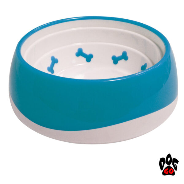 Миска для собак непроливайка CROCI Tpr Bone, пластик, прорезиненное дно-1