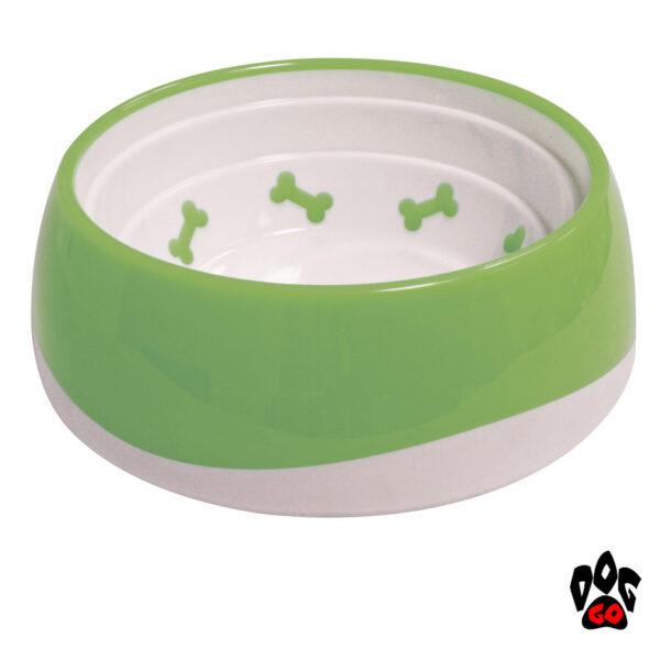 Миска для собак непроливайка CROCI Tpr Bone, пластик, прорезиненное дно-4
