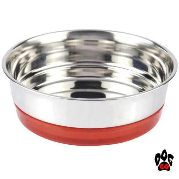 Миска для собак, нержавейка CROCI Neon, непроливайка на резинке-2